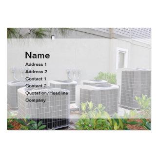 unidades al aire libre del acondicionador de aire tarjeta de negocio