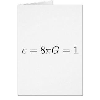 Unidades de Geometrized para la relatividad Tarjeta De Felicitación