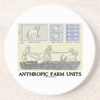 Unidades de medida Anthropic de las unidades de la Posavasos Manualidades