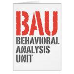 Unidades del análisis del comportamiento de BAU Tarjeton