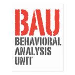 Unidades del análisis del comportamiento de BAU Tarjeta Postal