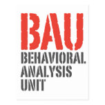 Unidades del análisis del comportamiento de BAU Tarjetas Postales