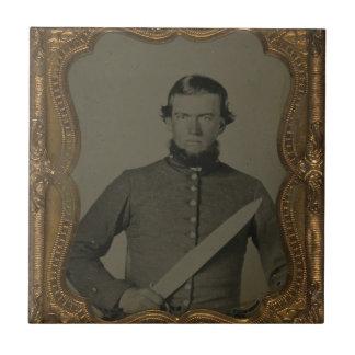 Unidentified Confederate Soldier Ceramic Tile