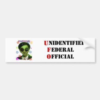 Unidentified Federal Official Bumper Sticker