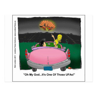 Unidentified Flying Armadillo UFA Funny Gifts Post Cards