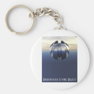 Unidentified Flying Object Basic Round Button Keychain