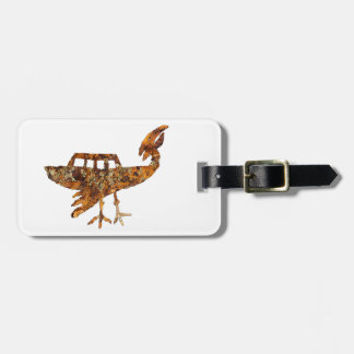 Unidentified Flying Object Petroglyph Luggage Tag
