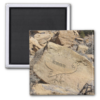 Unidentified Flying Object Petroglyph Magnet