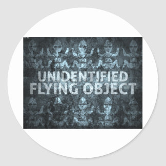 Unidentified Flying Object Classic Round Sticker