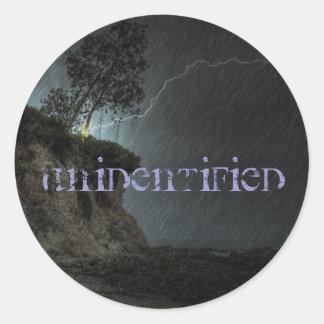 Unidentified Round Sticker