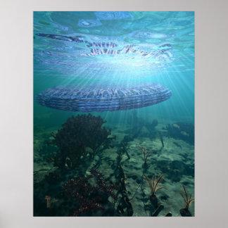 "Unidentified Submerged Object 22"" x 28"" Art Print"
