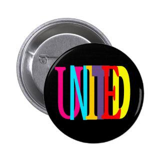 Unido alrededor del botón pin redondo de 2 pulgadas