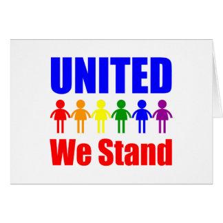 Unido colocamos al homosexual y lesbiana tarjeta de felicitación