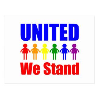 Unido colocamos al homosexual y lesbiana postales