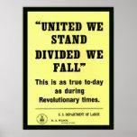 Unido colocamos el vintage del ~ patriótico poster