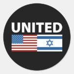 Unido con Israel Etiqueta Redonda
