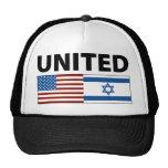 Unido con Israel Gorros Bordados