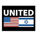 Unido con Israel Tarjeta Postal