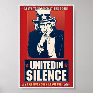 Unido en el silencio (ASL) Póster