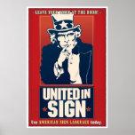 Unido en la muestra (ASL) Poster