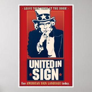 Unido en la muestra (ASL) Póster