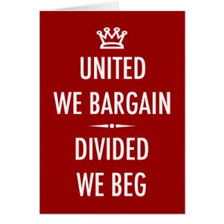 Unido negociamos tarjeta de felicitación