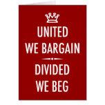 Unido negociamos tarjetas
