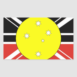 Unification flag of Australia Rectangular Stickers