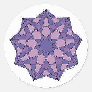 Unification Round Sticker