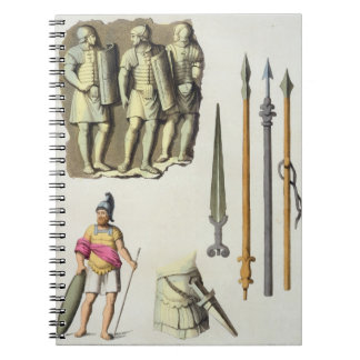 Uniform and weapons of Roman legionaries, from 'Le Note Book
