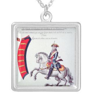 Uniform of the Volunteers Square Pendant Necklace