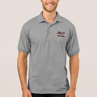 Uniform Salon Hair Stylist  Logo Designer Scissors Polo Shirt