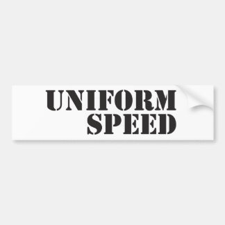 Uniform Speed Name Logo Bumper Sticker