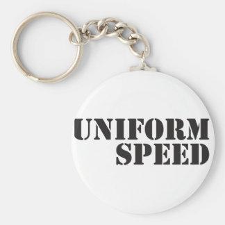 Uniform Speed Name Logo Keychain
