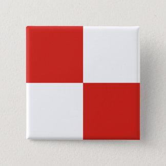 Uniform (U) Signal Flag Pinback Button