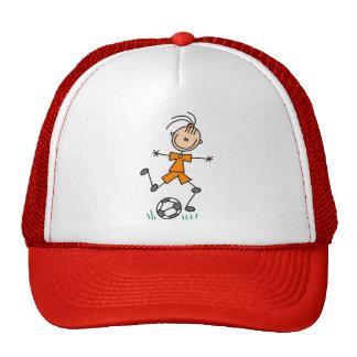 Uniforme anaranjado del fútbol del chica gorro