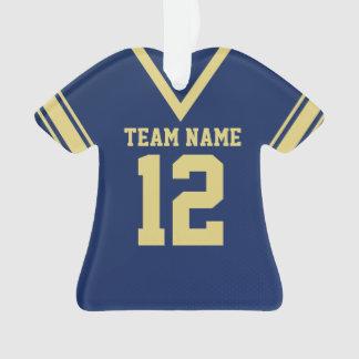 Uniforme azul del oro del jersey del fútbol