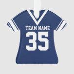 Uniforme azul marino del jersey del fútbol