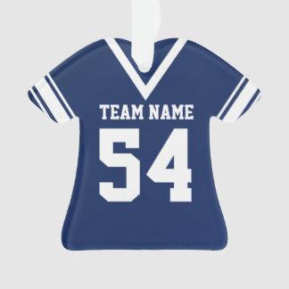 Uniforme azul marino del jersey del fútbol con la