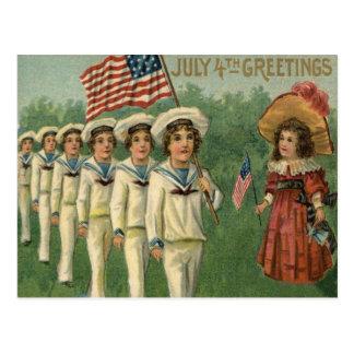 Uniforme de la marina de guerra del desfile de la tarjetas postales