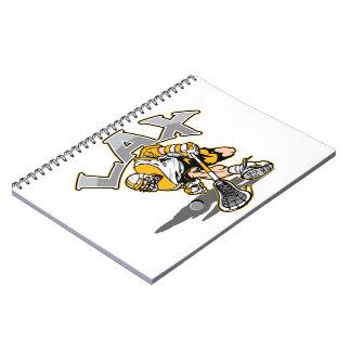 Uniforme del amarillo del jugador de LaCrosse Libretas