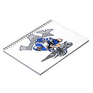Uniforme del azul del jugador de LaCrosse Libreta