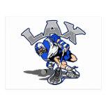 Uniforme del azul del jugador de LaCrosse Postales