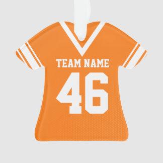 Uniforme del naranja del jersey del fútbol con la