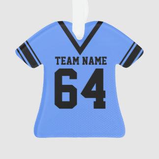 Uniforme del negro azul del jersey del fútbol