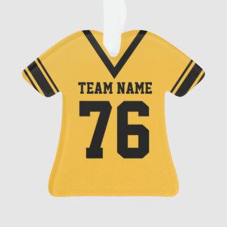 Uniforme del oro del jersey del fútbol con la foto