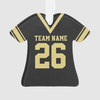 Uniforme del oro del negro del jersey del fútbol