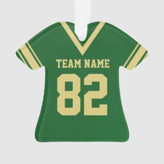 Uniforme del oro verde del jersey del fútbol con