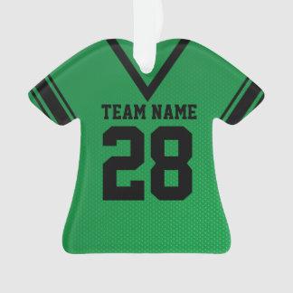 Uniforme del verde del jersey del fútbol