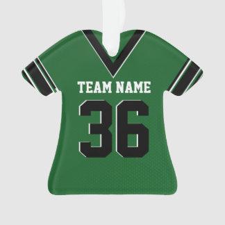 Uniforme del verde del jersey del fútbol con la